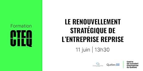 Formation : Le renouvellement stratégique de l'entreprise reprise billets