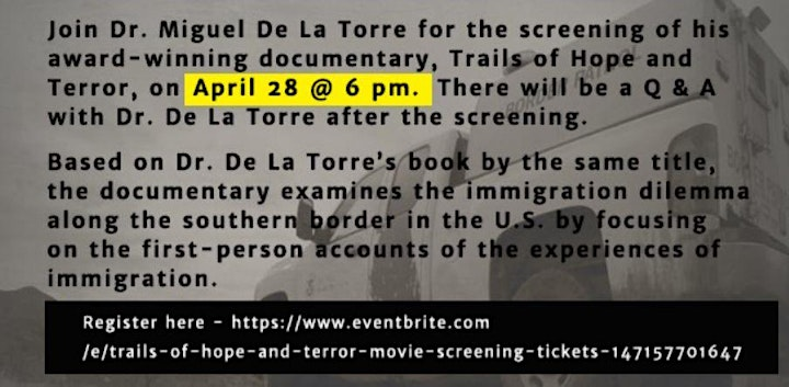 Trails of Hope and Terror Movie Screening image