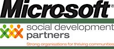 Microsoft New Zealand in association with Social Development Partners logo