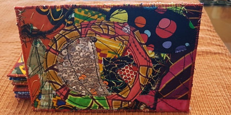 Sewing Quilted Fabric Post Cards with Kimberley Pierce Cartwright tickets