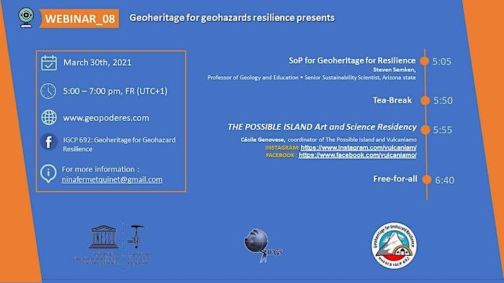 Webinar 08 : Geoheritage for Geohazard Resilience image