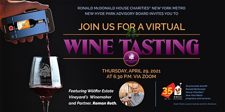 RMHC New York Metro Virtual Wine Tasting tickets