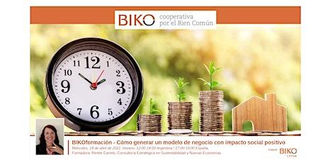 BIKOformación - Cómo generar un modelo de negocio con impacto positivo entradas