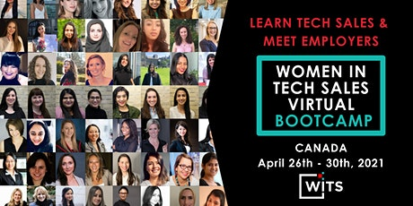 Women in Tech Sales Bootcamp (Virtual) - April 2021 tickets