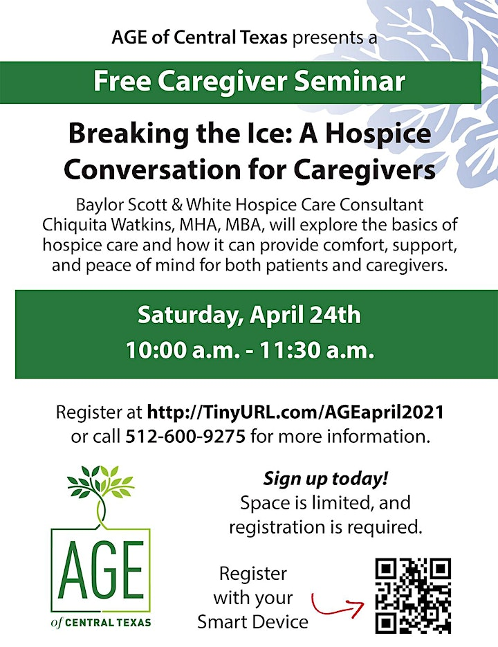 Breaking the Ice: A  Hospice Conversation for Caregivers image