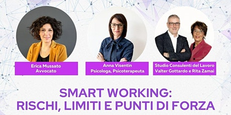 Webinar gratuito - Smart working: rischi, limiti e punti di forza biglietti