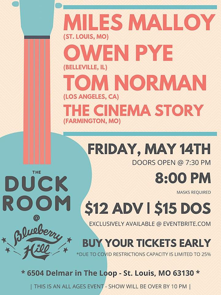 Miles Malloy, Owen Pye, Tom Norman, and The Cinema Story @ The Duck Room image