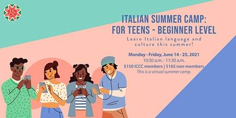 Italian Summer Camp for Teens - Beginner Level Tickets