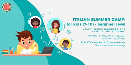 Italian Summer Camp - Kids Beginner Level tickets