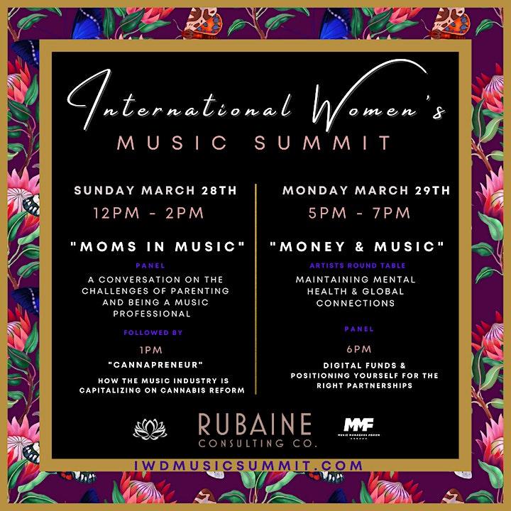 International Women's Music Summit | SUNDAY March 28th & MONDAY March 29th image
