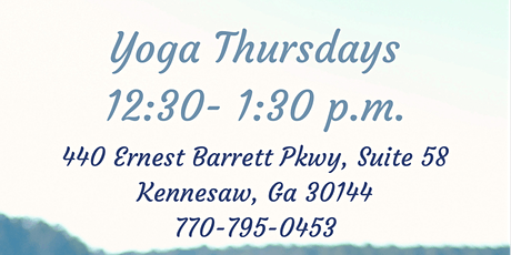 Mindful Yoga Class (Wellness, Fitness, Health Event in Kennesaw) tickets