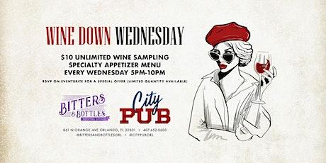 Wine Down Wednesday   City PUB - Bitters & Bottles   861 N Orange Ave tickets