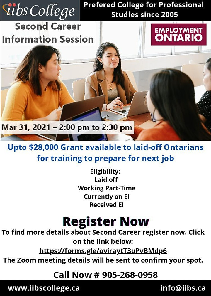 IIBS Announces FREE WEBINAR – Second Career Information Session image