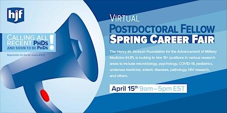 HJF Virtual Postdoctoral Fellow Spring Career Fair tickets