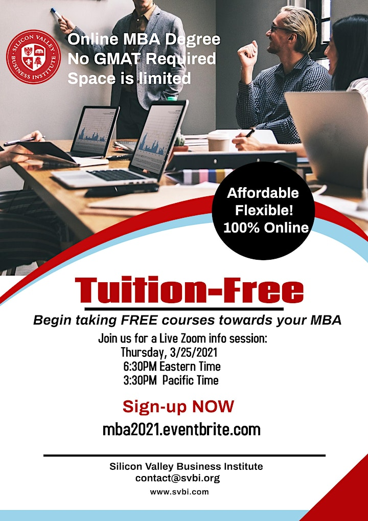 100% Online MBA- Tuition Free Scholarship image