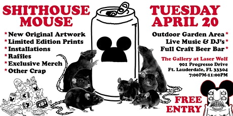 Shithouse Mouse Art Exhibition Opening Event tickets