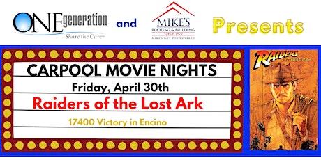 Carpool Movie Night - Indiana Jones, Raiders of the Lost Ark tickets
