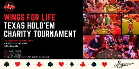 Wings for Life Texas Hold'em Charity Tournament tickets