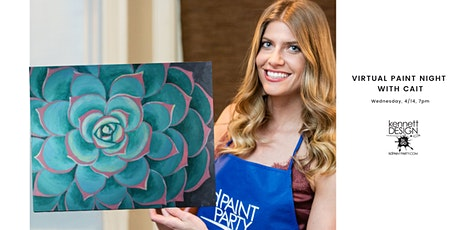 Virtual Paint Night with Cait - Succulent tickets