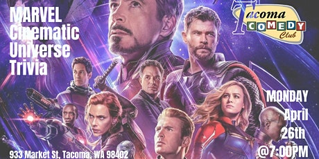 Marvel Cinematic Universe Trivia at Tacoma Comedy Club tickets