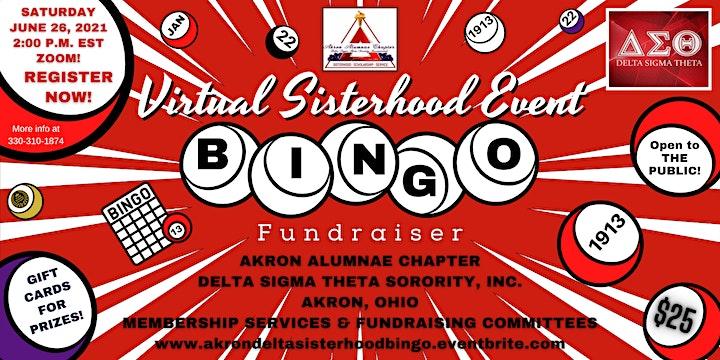 AAC Sisterhood Virtual Bingo Event (Fundraiser) image