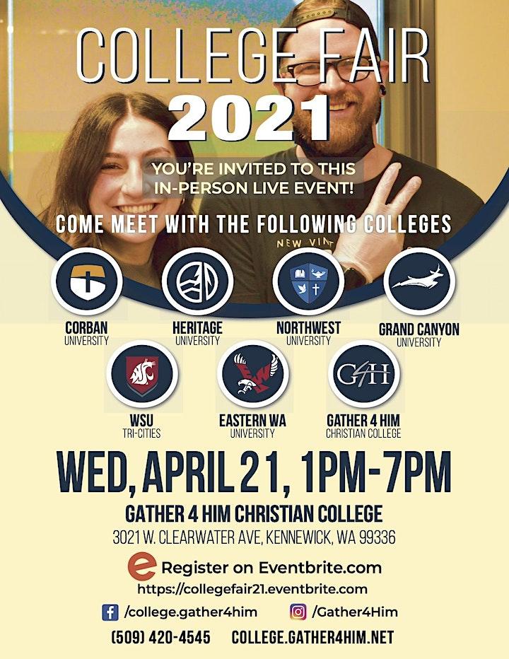 Gather 4 Him College Fair 2021 image