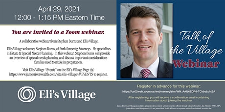 Talk of the Village • Estate & Special Needs Planning with Stephen Burns tickets