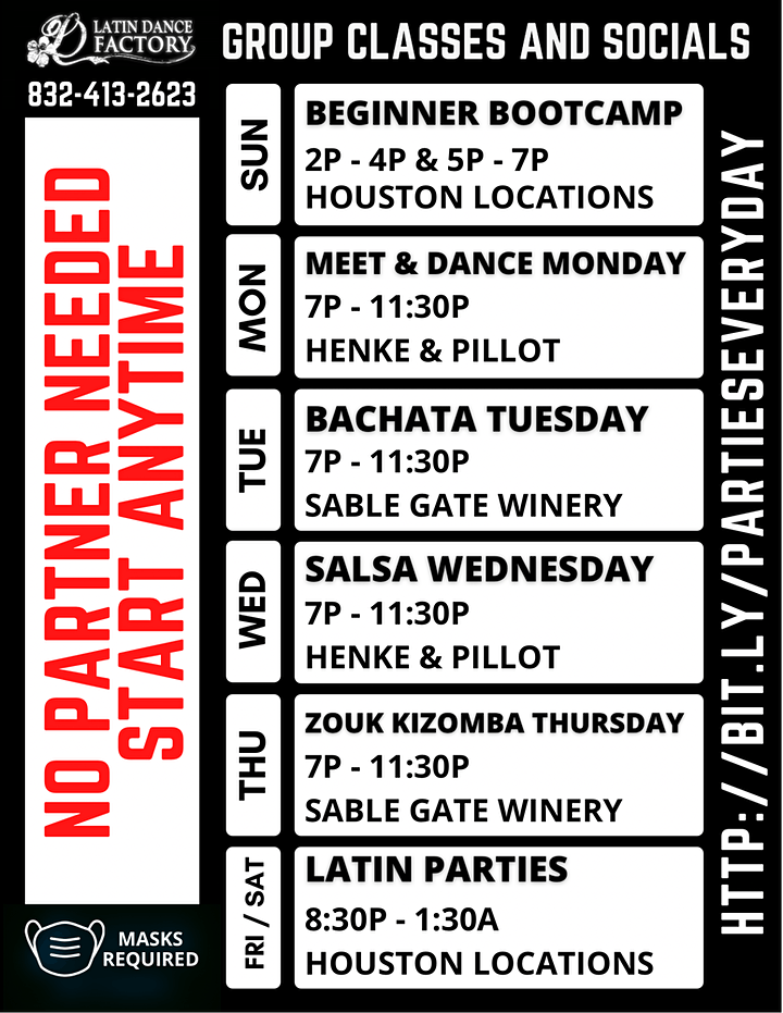 Happy Hour Cumbia & Salsa Lessons and Live Music @ Sambuca Downtown! 04/29 image