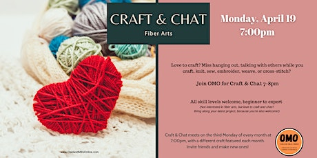 OMO's Craft and Chat tickets