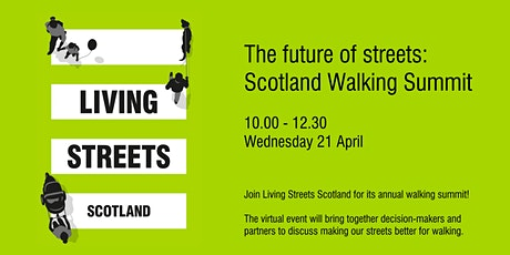 The future of streets: Scotland Walking Summit tickets