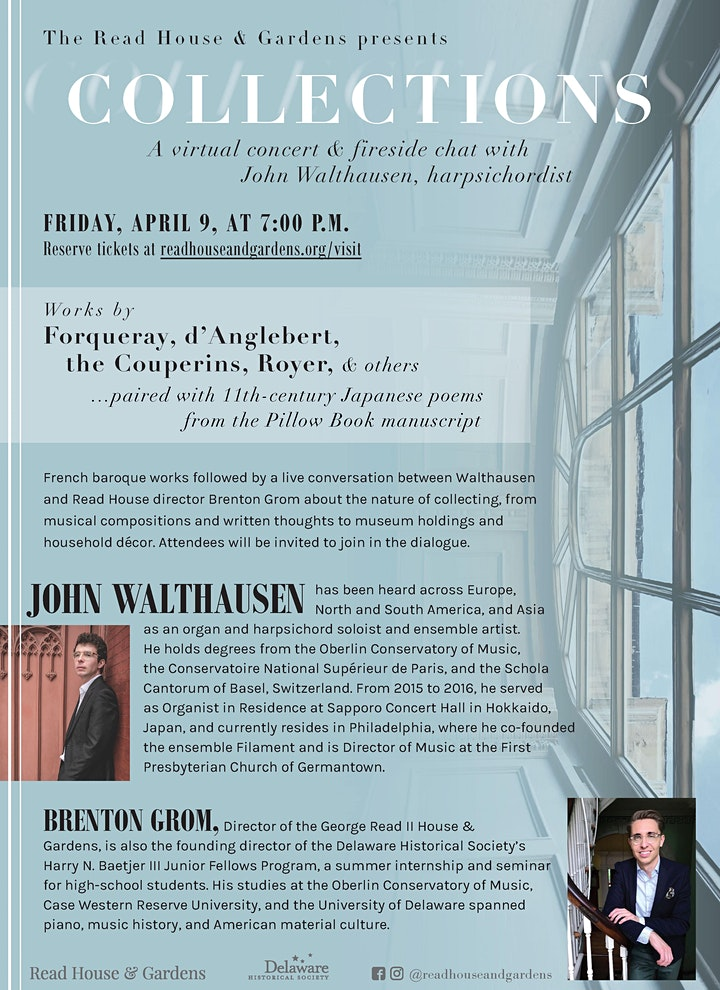 COLLECTIONS:  A Virtual Concert & Fireside Chat with John Walthausen image