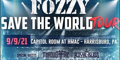 Fozzy Save The World Tour Comes to HMAC w/ Through Fire & Royal Bliss