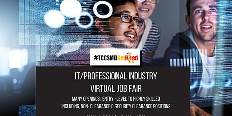 2021 IT Professional Industry Virtual Job Fair  - Jobseeker Registration tickets