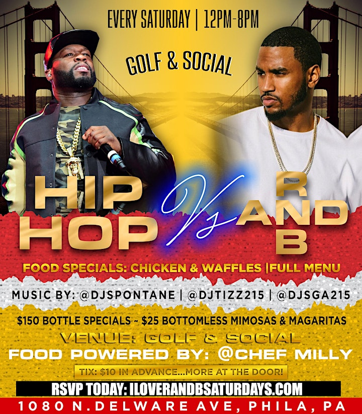 HIP-HOP VS. R & B THE ULTIMATE CHICKEN & WAFFLES INDOOR/OUTDOOR DAY PARTY image