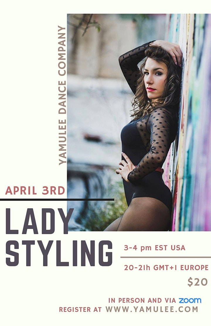 Saturday In Person Ladies Styling & Body Movement 3-4pm (Co-Ed Class) image