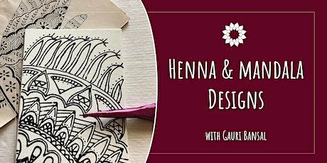 Create Beautiful Mandala Designs Using Henna Techniques tickets