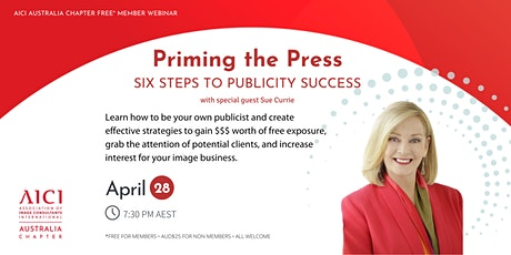 Priming the Press: Six Steps to Publicity Success tickets