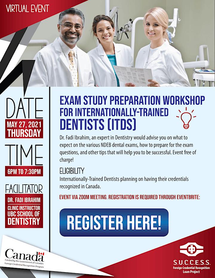 Exam Study Preparation Workshop for Internationally-Trained Dentists (ITDs) image