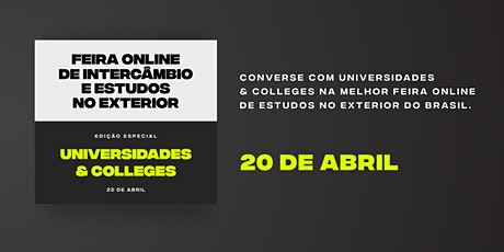 Universidades & Colleges: Feira Online de Intercâmbio e Estudos no Exterior boletos