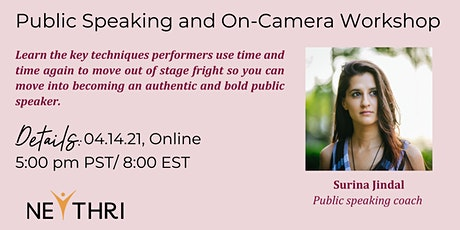 Public Speaking and On-Camera Workshop tickets