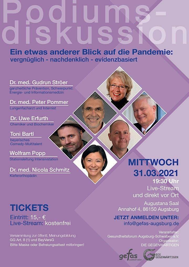 """gefas-Podiumsdiskussion: """"Ein etwas anderer Blick auf die Pandemie:"""": Bild"""