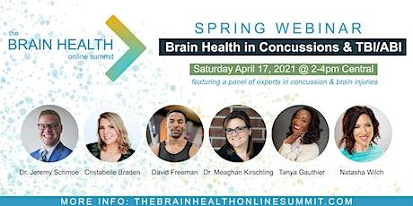 Spring Webinar: Brain Health in Concussions & TBI/ABI tickets
