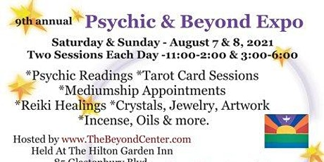 9th Annual Psychic & Beyond Expo Aug. 7 & 8, 2021 tickets