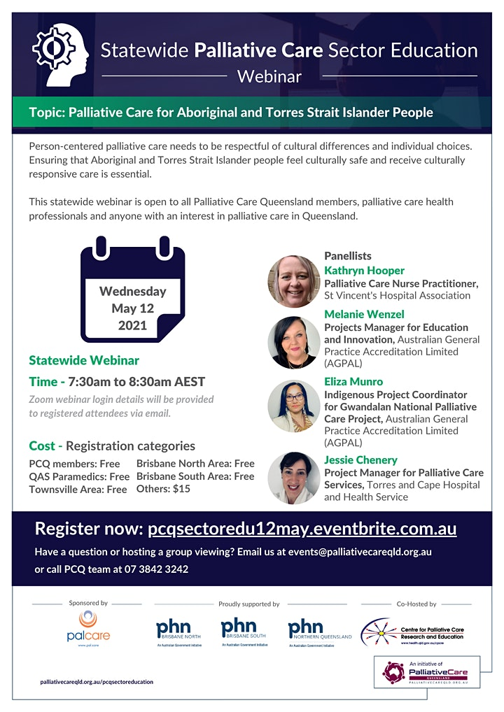 2021 Statewide Palliative Care Sector Education | May 12 image