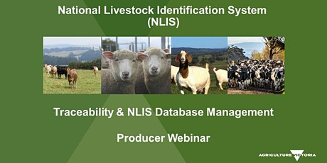 NLIS database  training interactive webinar - May tickets