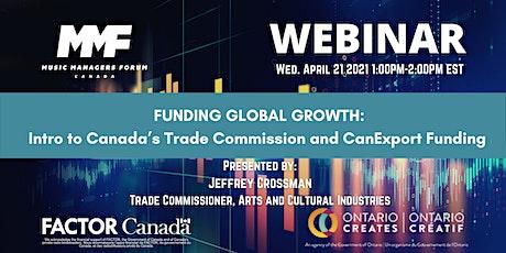 MMF CANADA WEBINAR: Funding Global Growth tickets