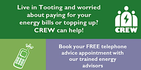 Tooting Energy Advice info event by Crew Energy-your local community group tickets