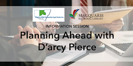 Planning Ahead with D'arcy Pierce tickets