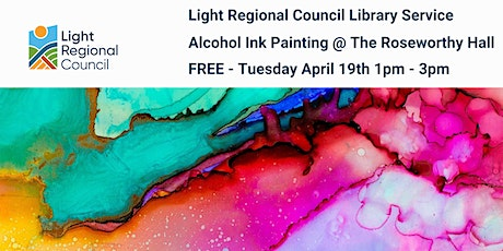 Alcohol Ink Painting Session @ The Roseworthy Hall tickets