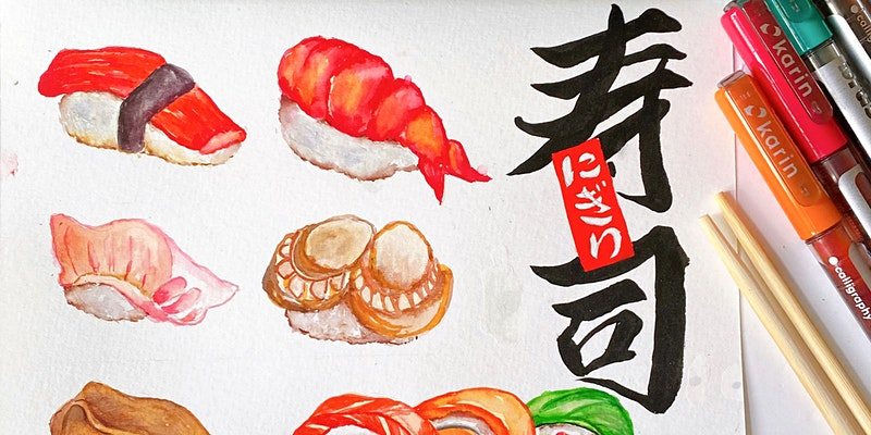 Sushi Painting Workshop with Karin Brushmarkers
